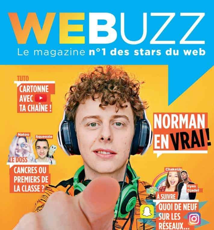 lancement du magazine papier webuzz d di aux stars des r seaux sociaux. Black Bedroom Furniture Sets. Home Design Ideas