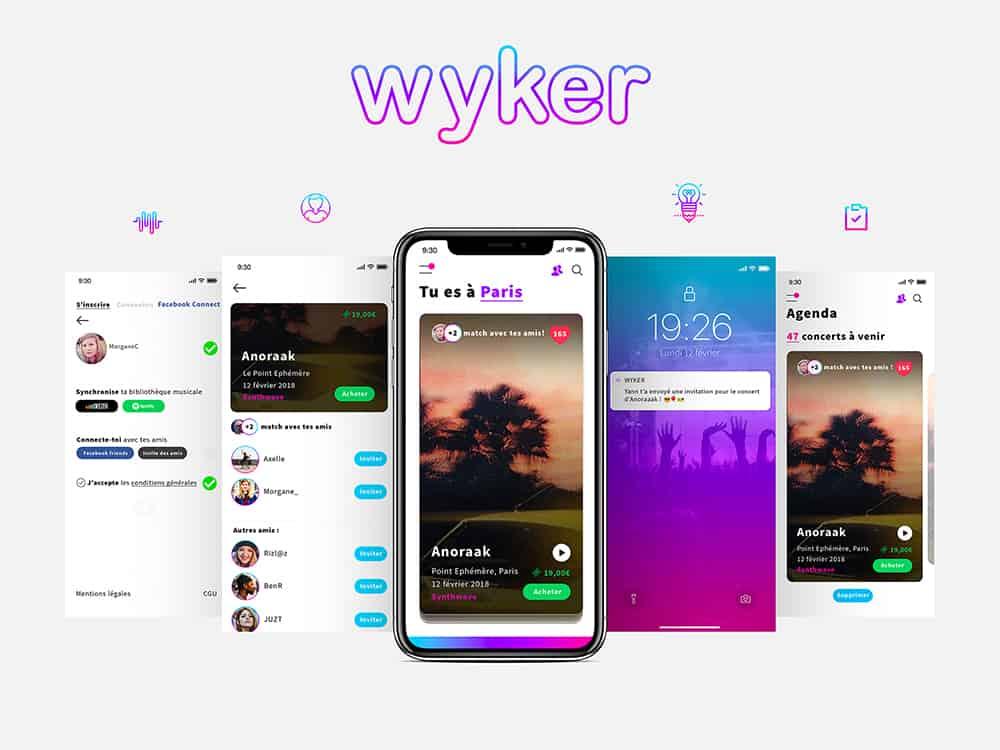 lancement de wyker une application pour se connecter autour de concerts et festivals. Black Bedroom Furniture Sets. Home Design Ideas